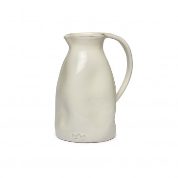 Dutchdeluxes Dented Jug | White