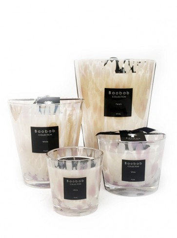 Baobab Collection geurkaars white pearls