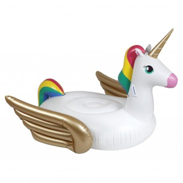 Luxe ride-on float zwaan unicorn