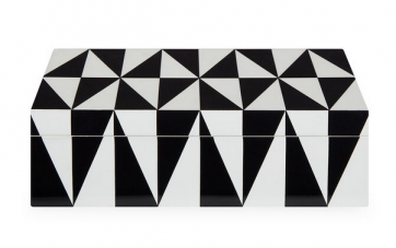 Op Art Lacquer Box | Medium
