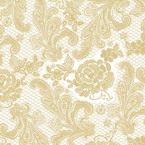 Tafelservetten Lace Royal pearl goud