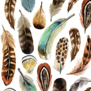 Tafelservetten Aquarell Feathers