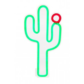 Cactus neon led wall light