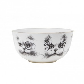 Bowl Cat Monocle & Clown Cat Bowl Small