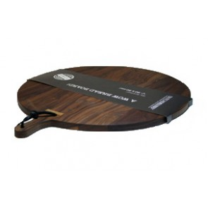 broodplank Dutchdeluxes bread board xl round solid walnut