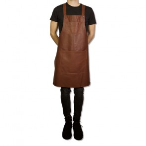 Dutchdeluxes Suspender Aprons | Leather Classic Brown