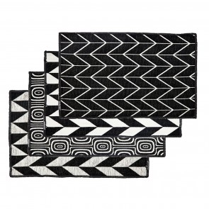 Dutchdeluxes 4 pack Placemats | Black & White