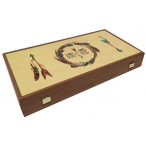 Luxe backgammon bordspel I love feathers