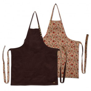 Dutchdeluxes Reversible Aprons | Purple Cord vs Flower Field