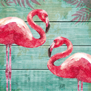 Tafelservetten Summer Flamingos