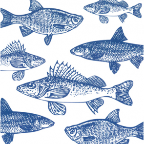 Tafelservetten Graphic Fishes Marine