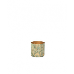 Waxinelichthouder Votive patina cylindrical | Small