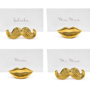 Brass Mr. & Mrs. Muse place card holder