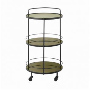Lucy bar cart-3 bronze mirror shelves
