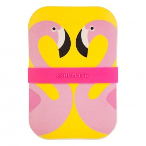 Sunnylife eco lunchbox flamingo
